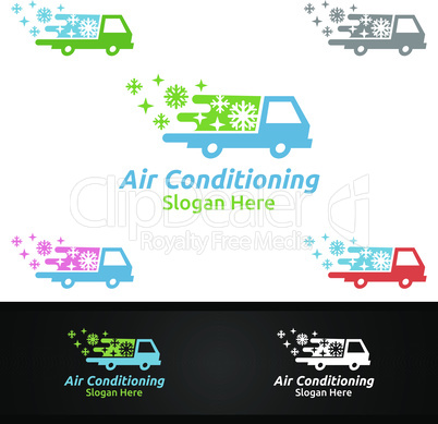 Car Snow Air Conditioning and Heating Services Logo