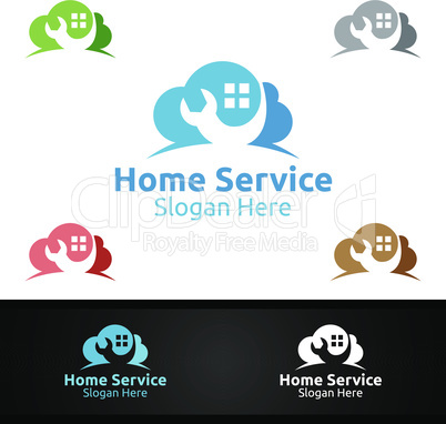 Cloud Real Estate and Fix Home Repair Services Logo