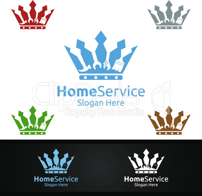 King Real Estate and Fix Home Repair Services Logo