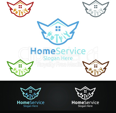 Luxury Real Estate and Fix Home Repair Services Logo