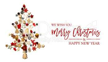 Christmas Tree, Decoration And Ornament, Merry Christmas, Isolated Background