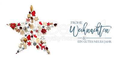 Christmas Star, Decoration And Ornament, Frohe Weihnachten Means Merry Christmas