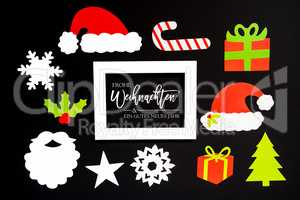 Frame, Christmas Decoration Accessories, Gutes Neues Means Happy New Year