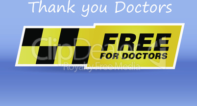 label thank you sticker free for taxi doctors