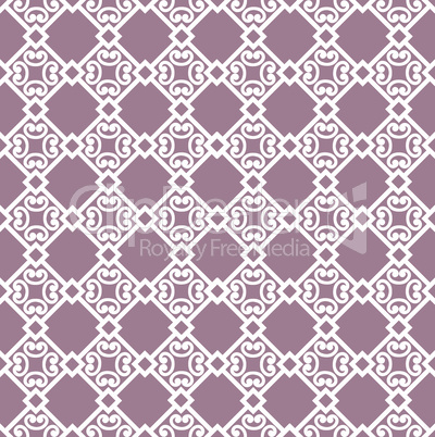 Abstract floral asian ornament. Seamless geometric pattern with swirl line ornament in oriental style.