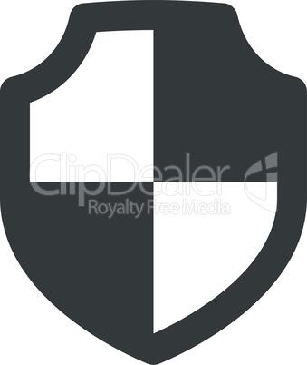Shield black vector icon