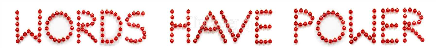 Red Christmas Ball Ornament Building Word Words Have Power