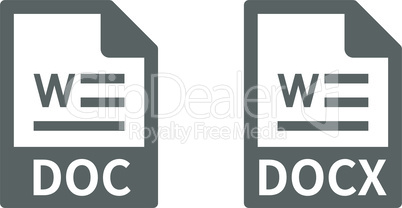 Document file format vector icon