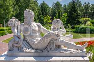 Sculptures in the park of the Mezhyhirya Residence, Ukraine
